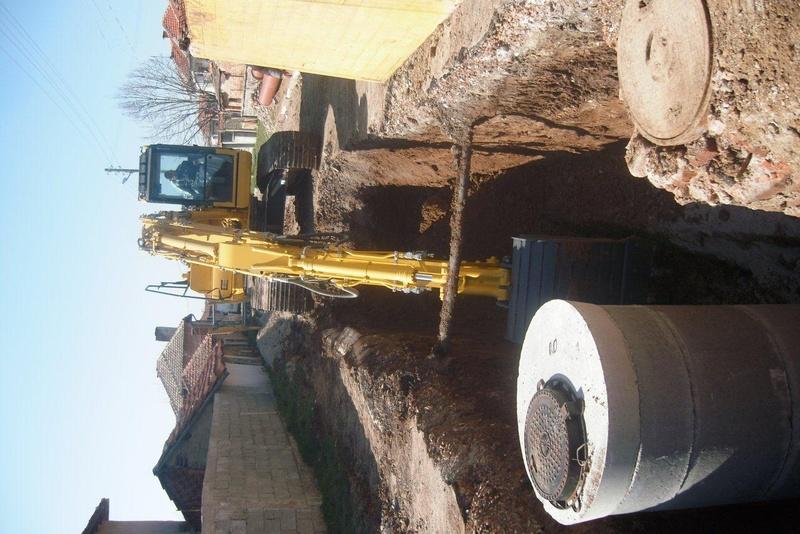 Construction of sanitary and storm sewers in Tenevo village, Municipality Tundzha. 2014