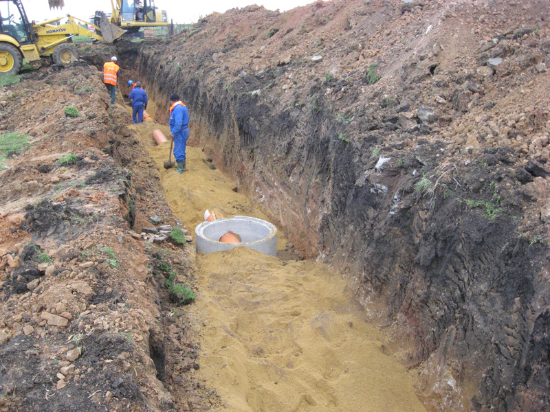 Reconstruction of the water supply network and construction of the sewerage network in the village Krystina, Municipality Kameno. 2012