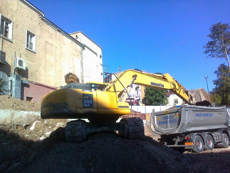 Excavation at St. St. Kiril i Metodi, Burgas